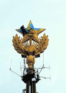 Orosz hadoszlop tört be Luhanszkba