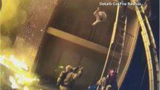 VIDEÓ: Elképesztő bravúrral mentette meg egy 5 éves kislány életét egy tűzoltó