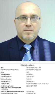 Körözést adtak ki Orosz Mihály Zoltán ellen