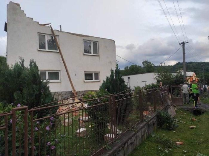 Tornádó volt a Vranov nad Topľou járásbeli Petkovce-ben