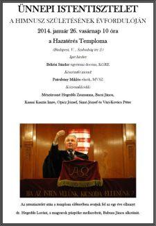 Dr. Hegedűs Loránt, a magyarok püspökének szoboravatása a Hazatérés Templomában