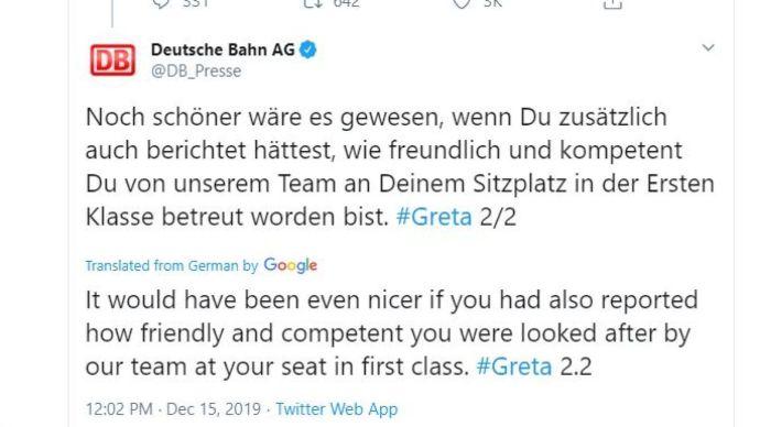 Erre Grétácska sem számított: a német vasúttársaság leplezte le az önsajnáltató klímakalandor hazugságát