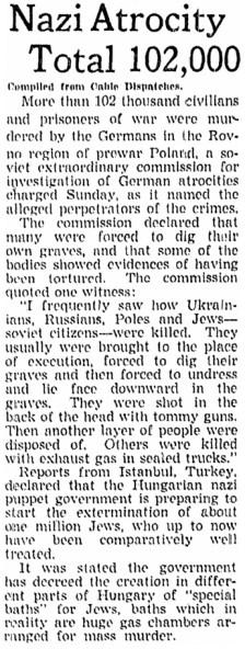 Szenzációs felfedezés: 1944 májusában gázkamrák építését tervezte a magyar kormány egymillió zsidó megsemmisítése érdekében!