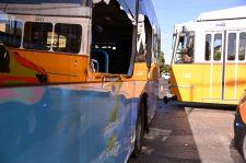 Villamos és busz ütközött Pesterzsébeten