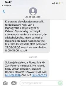 """A DK üzenetekben tüzeli nyugdíjasait azzal, hogy a Fidesz """"Márki-Zay Péterre mozgósít"""""""
