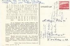 Rovás abc levelezőlap – Rákosi korszakból