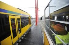 Több villamos is átment a Rákóczi hídon
