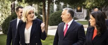 Új, jobboldalinak mondott európai csoportosulásról egyeztetett Orbán és Le Pen - de persze csak a vendég cipőlátogatása után