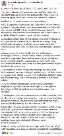 Momentum: szavazatokat vásárol az MSZP Kecskeméten
