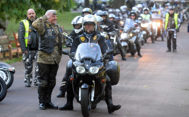 CONVOY OF 200 BIKERS ROAR INTO EDINBURGH FOR ANNUAL RIDE OF RESPECT