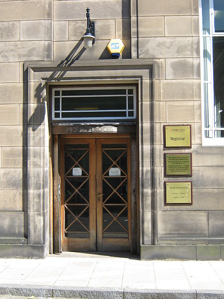 leith registrars office