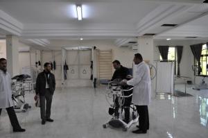 La sala riabilitazione (Foto: Federica Iezzi/Nena News)
