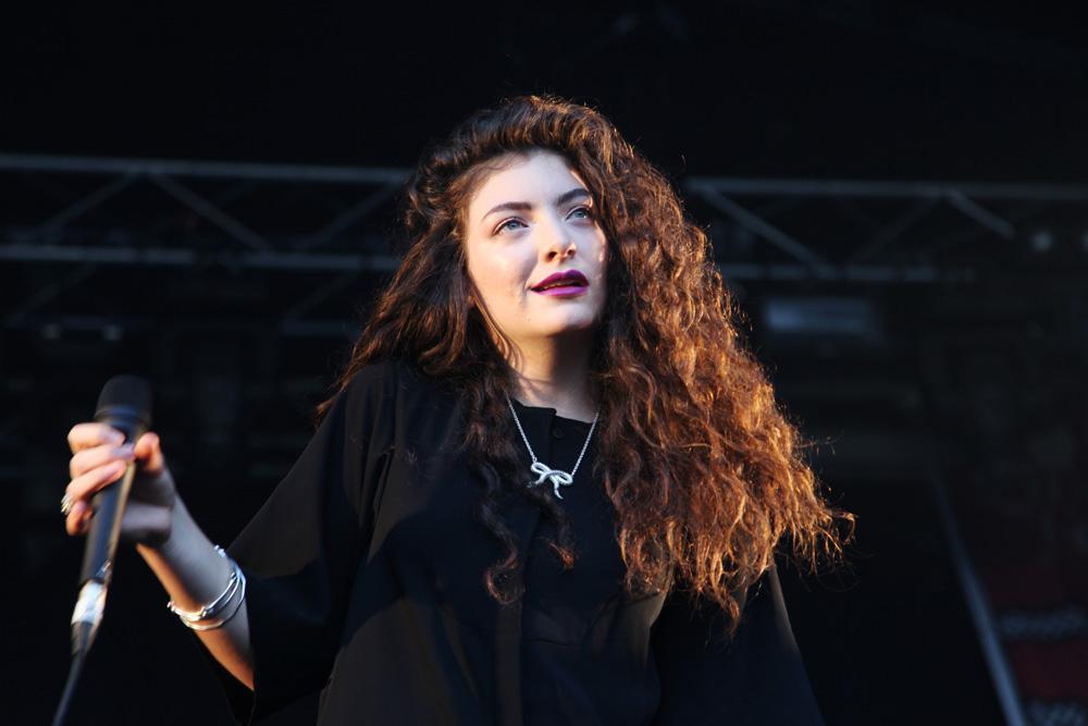 La pop star Lorde