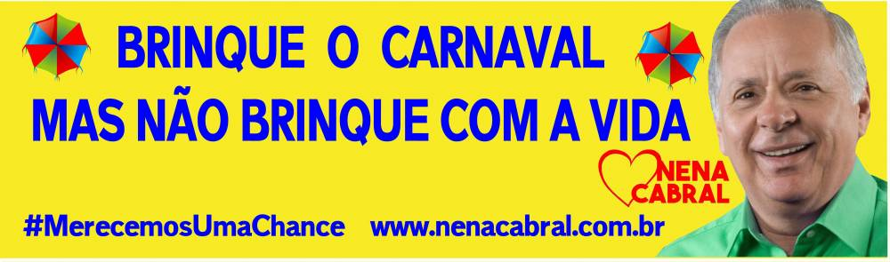 Brinque o carnaval, mas não brinque com a vida