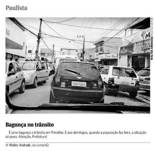 Bagunça no trânsito de Paulista