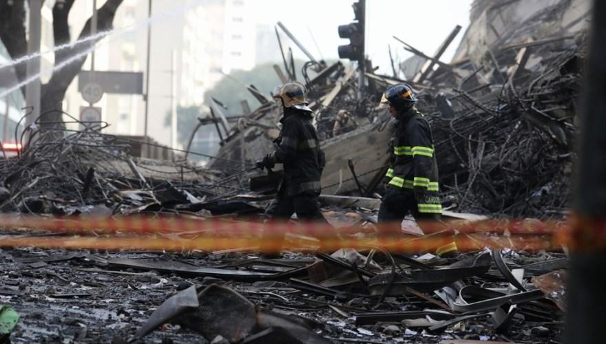 Incêndio no centro de São Paulo deixa 44 desaparecidos