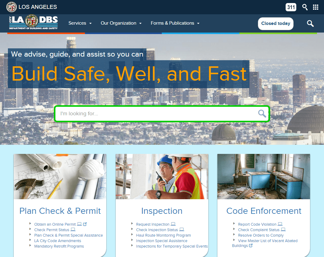 Build Safe  Well  and Fast   LADBS