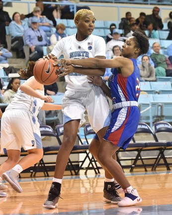 The Elizabeth City State Vikings met the University of North Carolina Tarheels in an exhibition basketball game in Chapel Hill, N.C. on November 7, 2017. UNC wins 115-51.