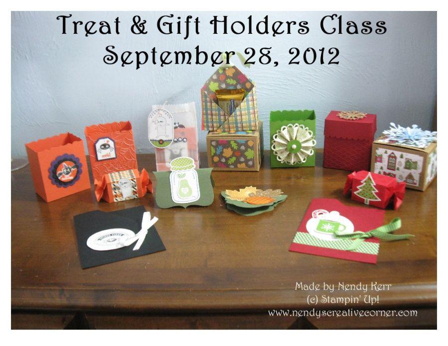 Sept 2012 Treat Holders Class