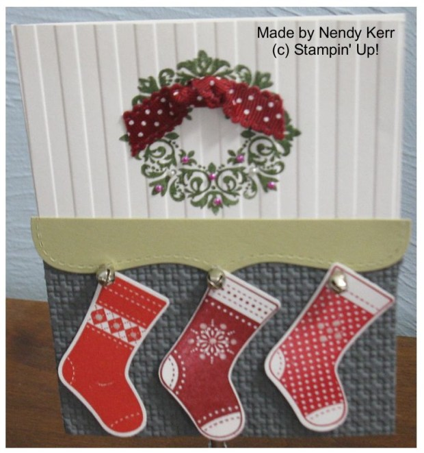 The stocking were hung by the chimney with care...