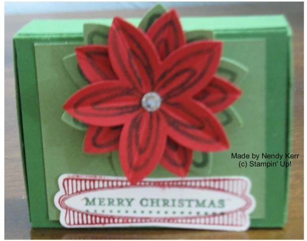 Poinsettia Matchbox