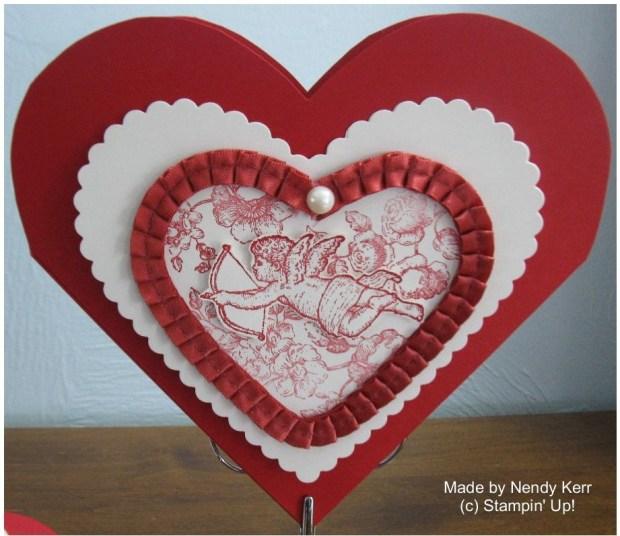 Heart Framelit Valentine Pouch