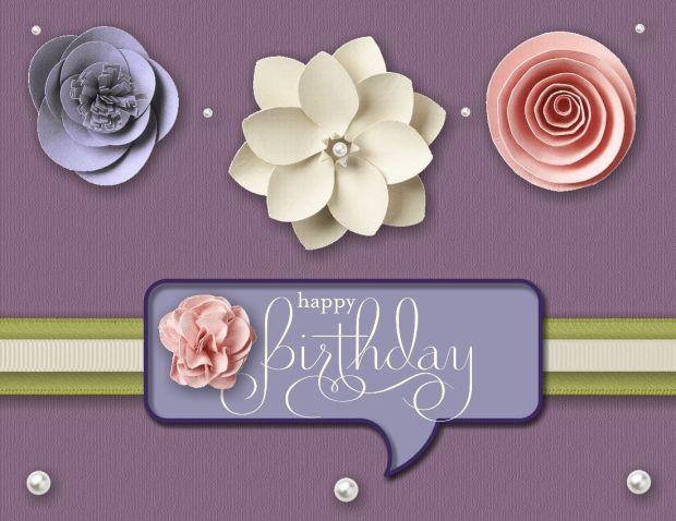 Megan's Flower Birthday card