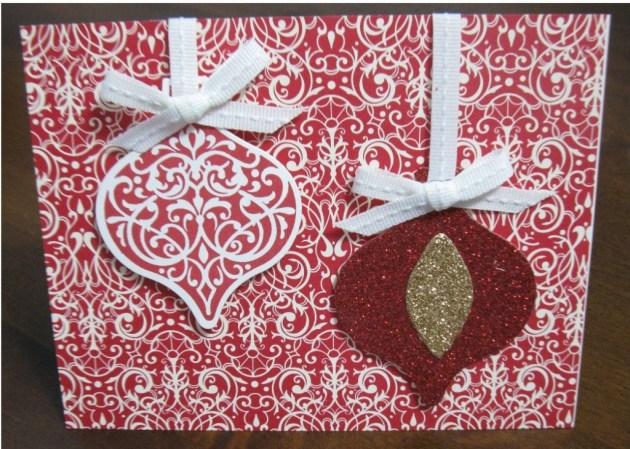 Ornament Keepsakes Christmas Card