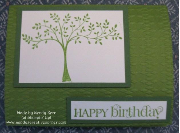 Derek's Happy Birthday Card in Green