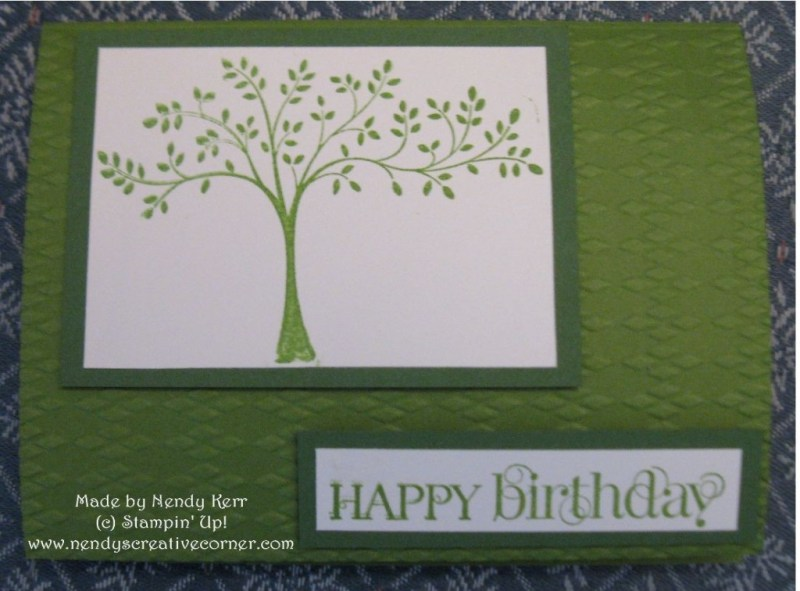 Derek's Happy Birthday Card in Green
