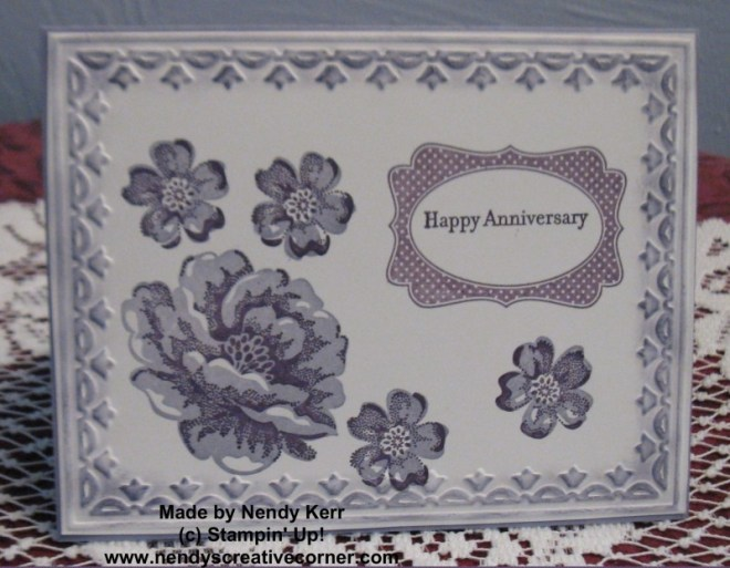 Stippled Flowers Two Step Stamping with a Stamp-a-ma-jig