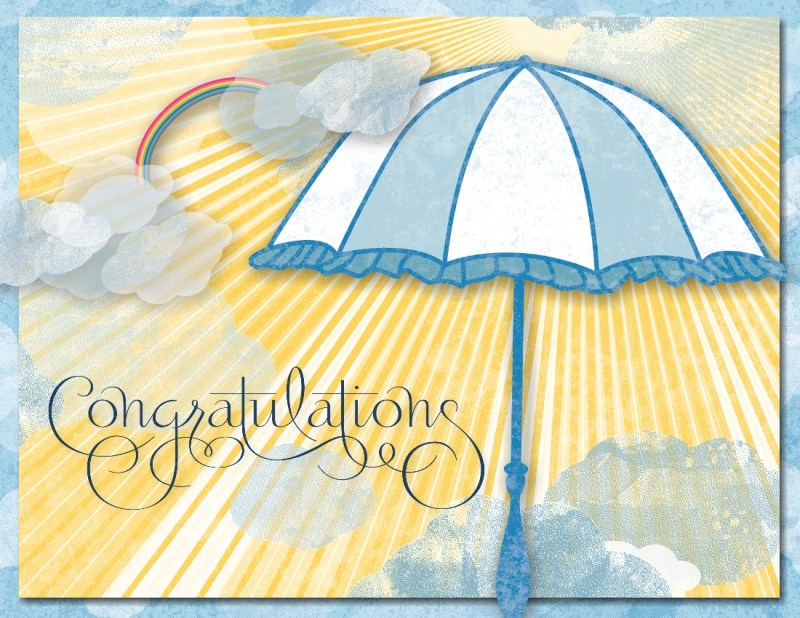 MDS Umbrells Congratulations Card