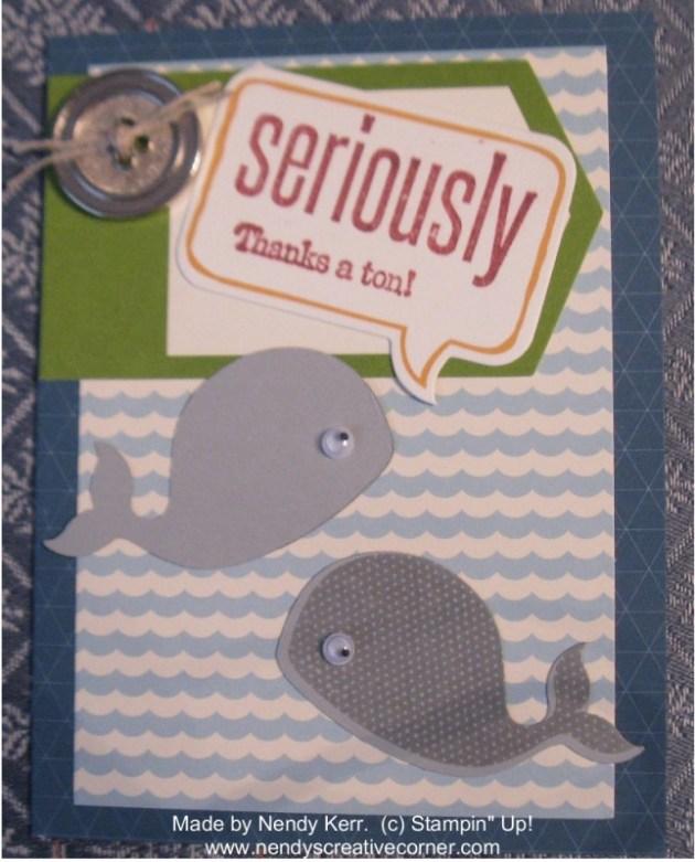 April 2013 Paper Pumpkin-Whale Card