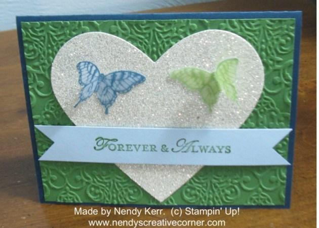 Heart & Butterflies Anniversary Card