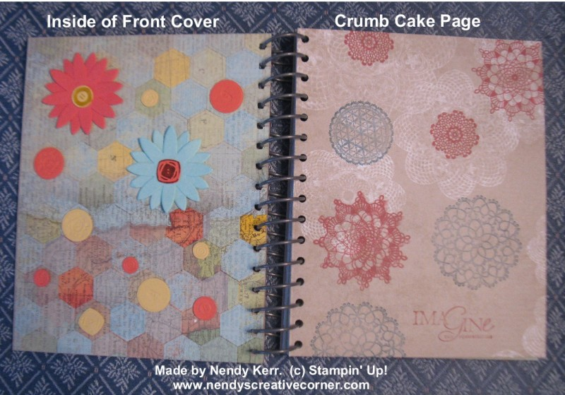 This & That Journal-Inside Front Cover & Crumb Cake Page