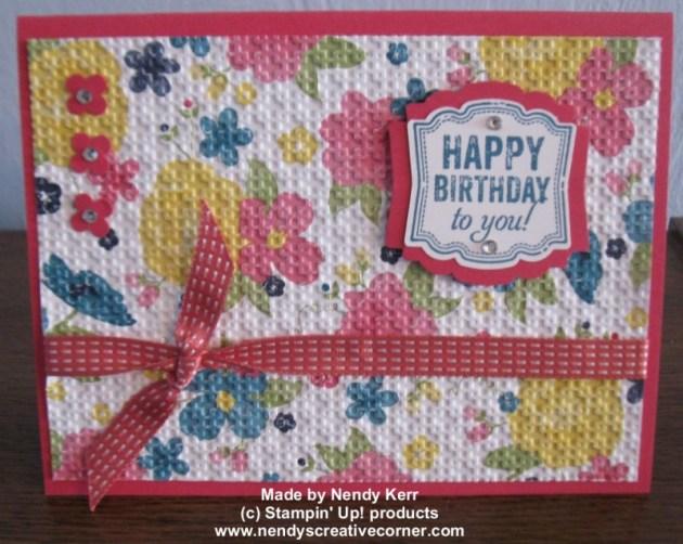 Gingham Garden DSP & Label Love Bundle Birthday Card