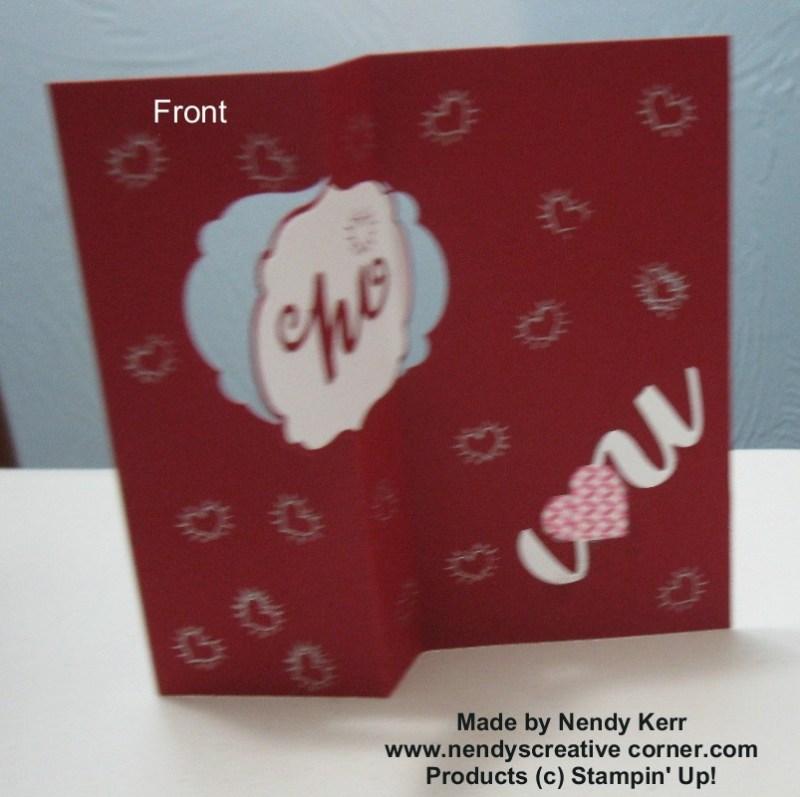 Label Framelit Card - Open Front View