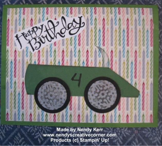 Race Car Boy's Birthday Card