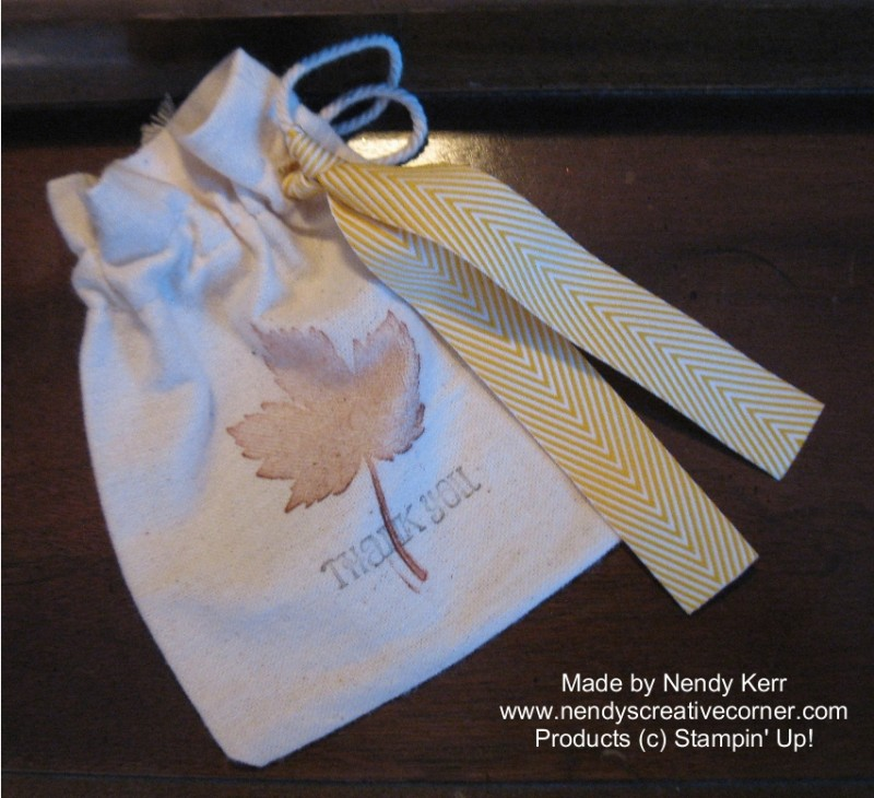Magnificent Maple Leaf Muslin Bag