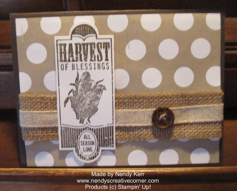 Harvest of Blessings Thanksgiving Card