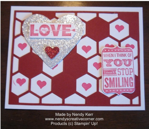Hexagon Hive Valentine Card