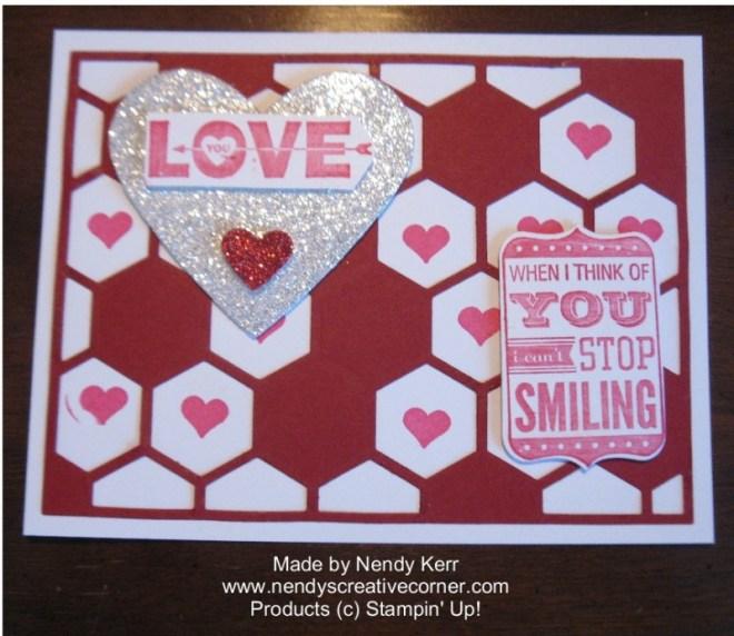 Hexagon Hive Valentine Card