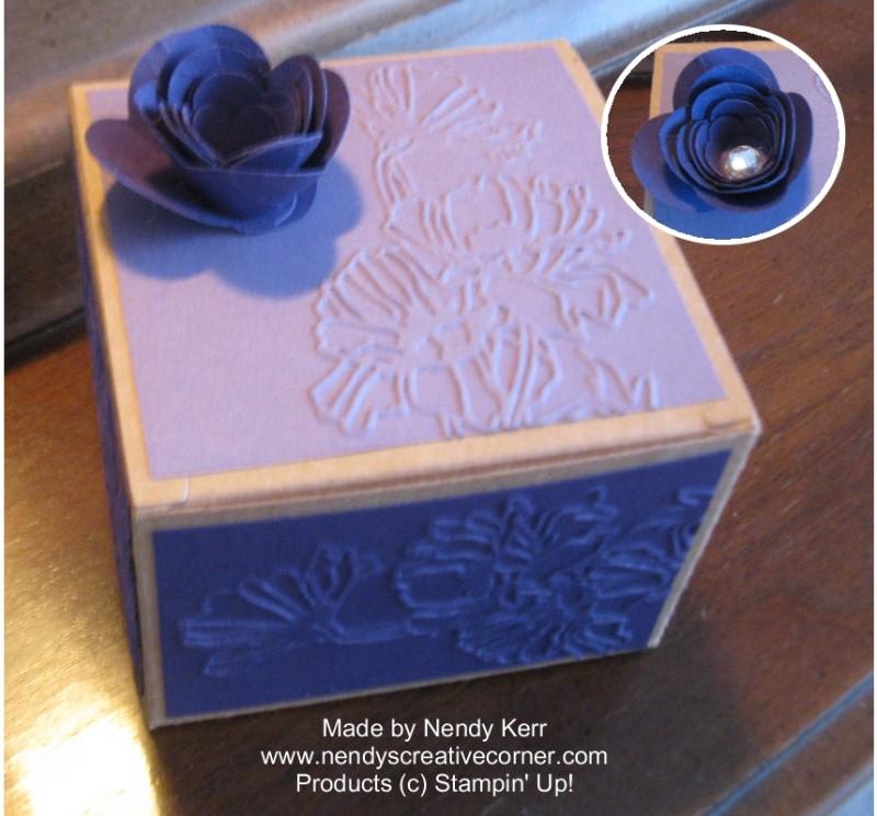 Spiral Flower Kraft Box