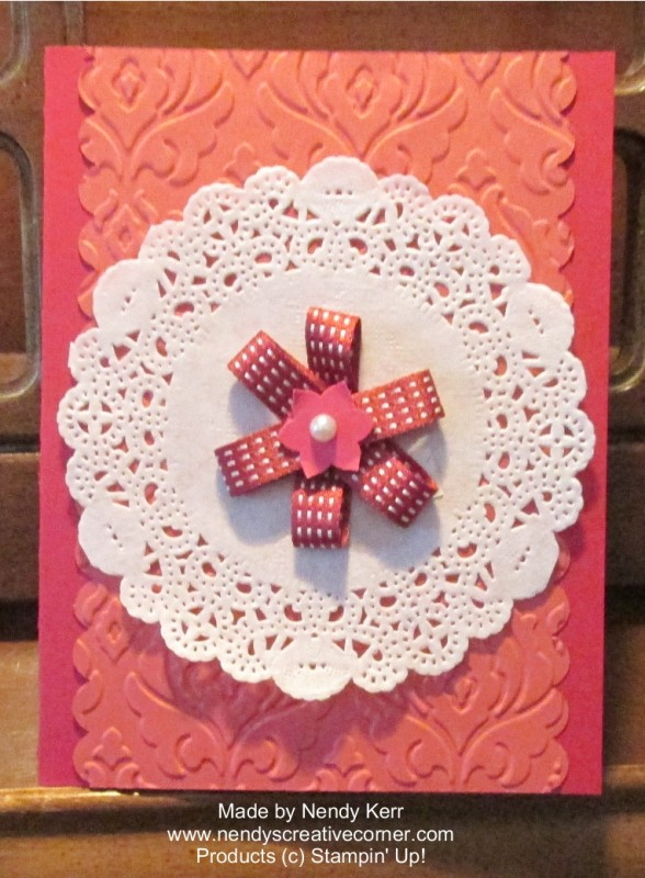 Raspberry Ripple & Primrose Petals Card