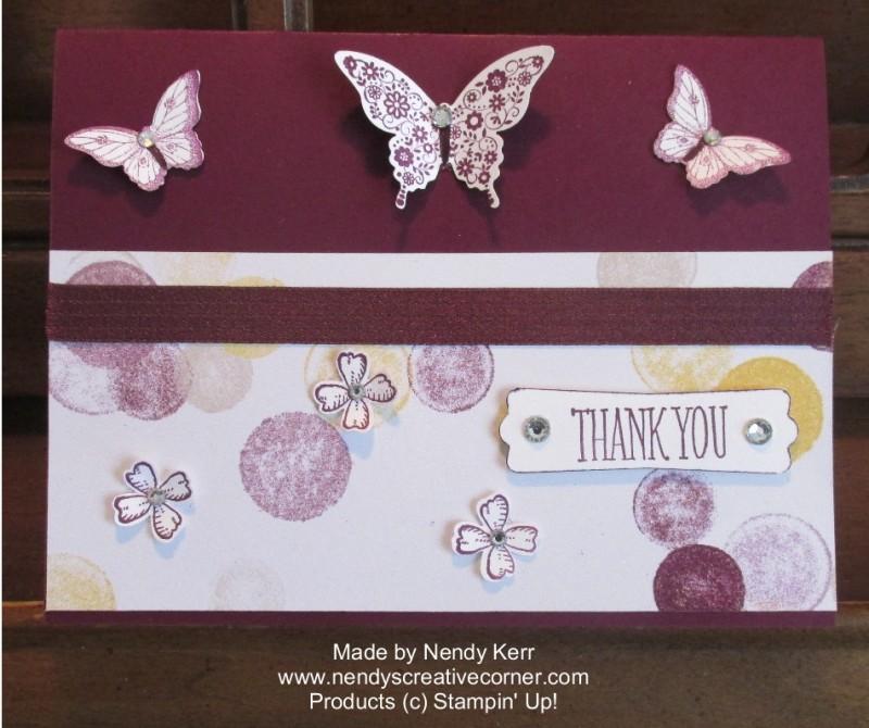Blackberry Bliss Butterflies & Flowers Card