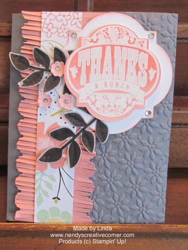 Flowers and Fringes card