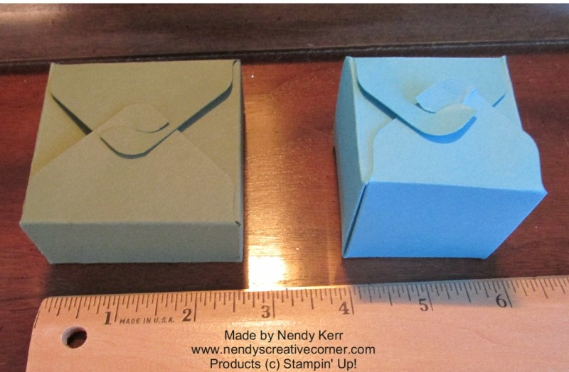 6x6 Gift Box Punch Board Boxes