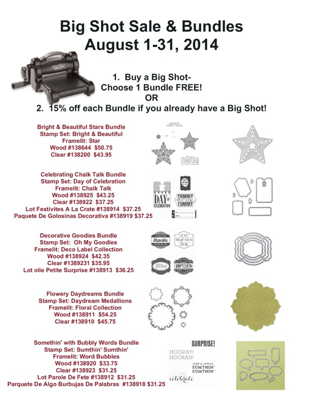 Big Shot and Bundle Sale