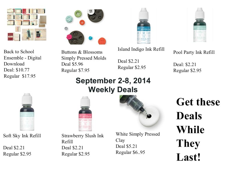 Weekly Deals Sept 2-8. 2014