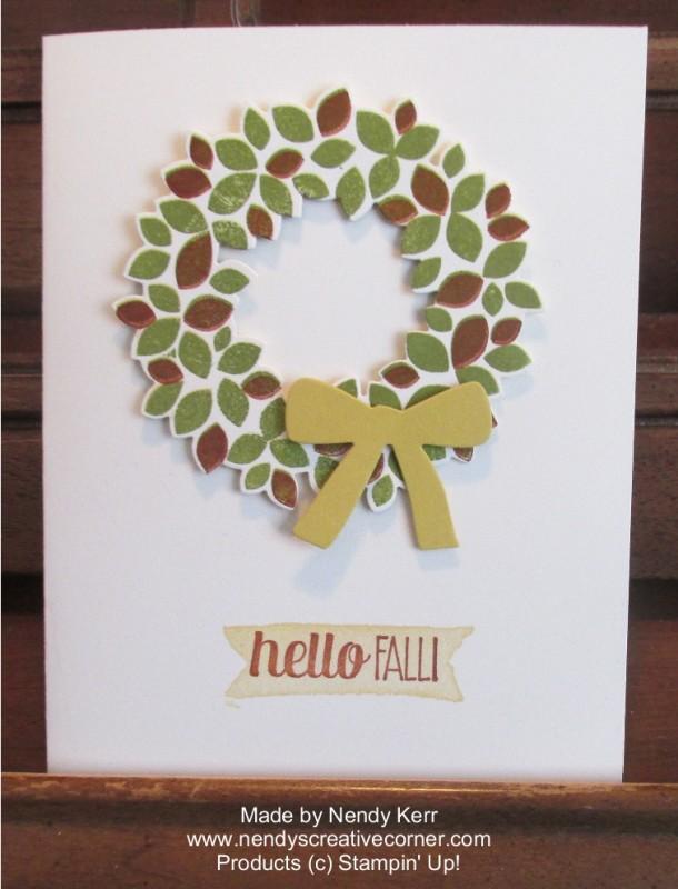 Fall Wonderous Wreath Card